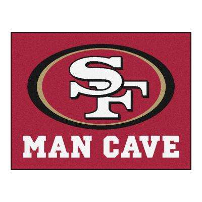 San Francisco 49ers Red Man Cave 3 ft. x 4 ft. Area Rug