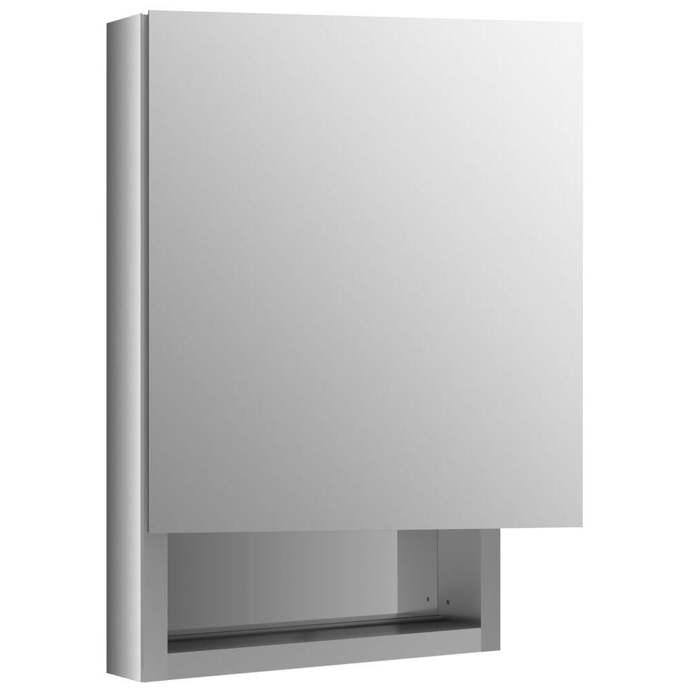 KOHLER Verdera 20 in. W x 30 in. H Recessed Medicine Cabinet in Anodized Aluminum