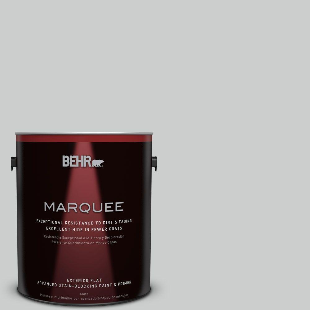 BEHR MARQUEE 1-gal. #N460-2 Planetary Silver Flat Exterior Paint