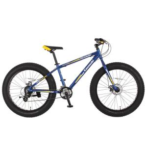 Kawasaki 26 inch x 4 inch Wheels Aluminum Blue/Yellow Mihari Fat Tire Bike by Kawasaki