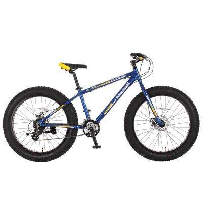 26 in. x 4 in. Wheels Aluminum Blue/Yellow Mihari Fat Tire Bike