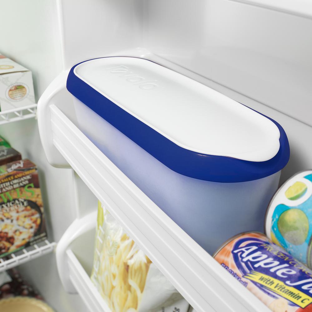 1.5 qt. Deep Indigo Glide-A-Scoop Ice Cream Tub, Insulated, Airtight Reusable Freezer Container With Non-Slip Base