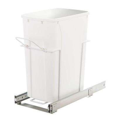 9.38 in. x 20 in. x 18.75 in. In Cabinet Pull-Out Bottom Mount Trash Can