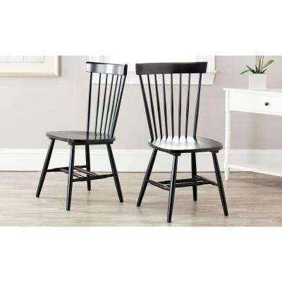 Riley Black Wood Dining Chair Set Of 2