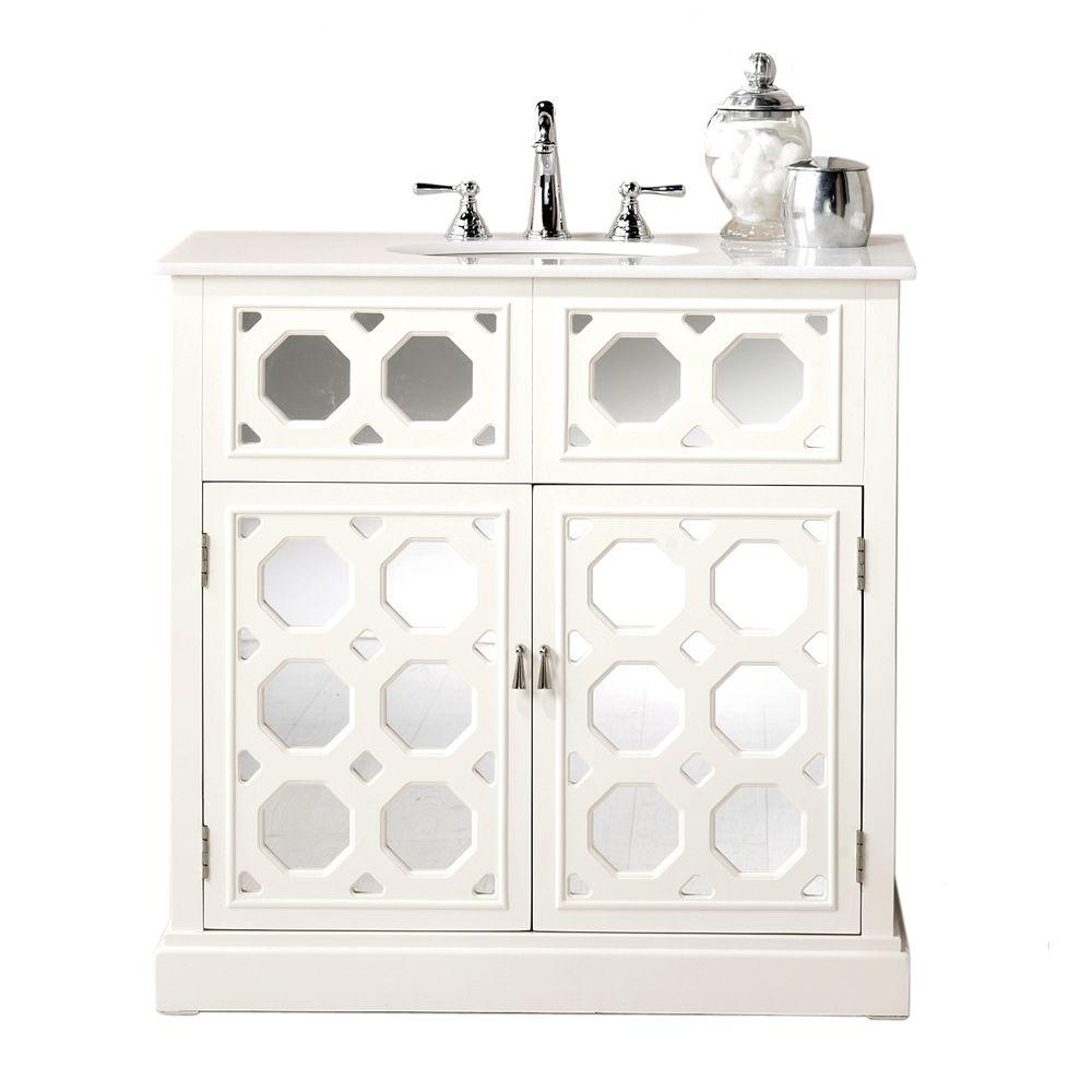 Home Decorators Collection Reflections 36 in. W Addie Vanity in White Finish