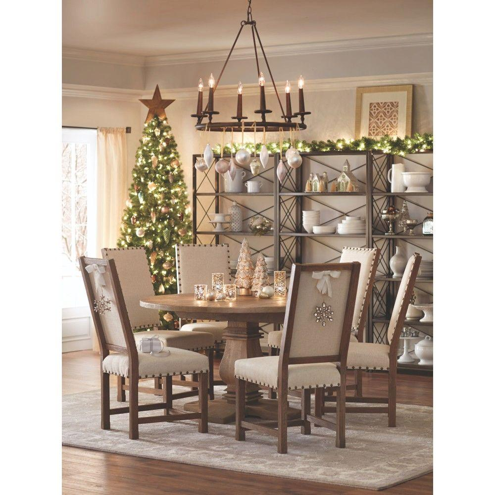 Home decorators collection andrew antique walnut dining for Home depot home decorators