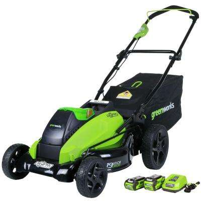 Digi-Pro GMAX 19 in. 40-Volt Brushless Cordless Battery Walk Behind Push Lawn Mower -Two Batteries/Charger Included