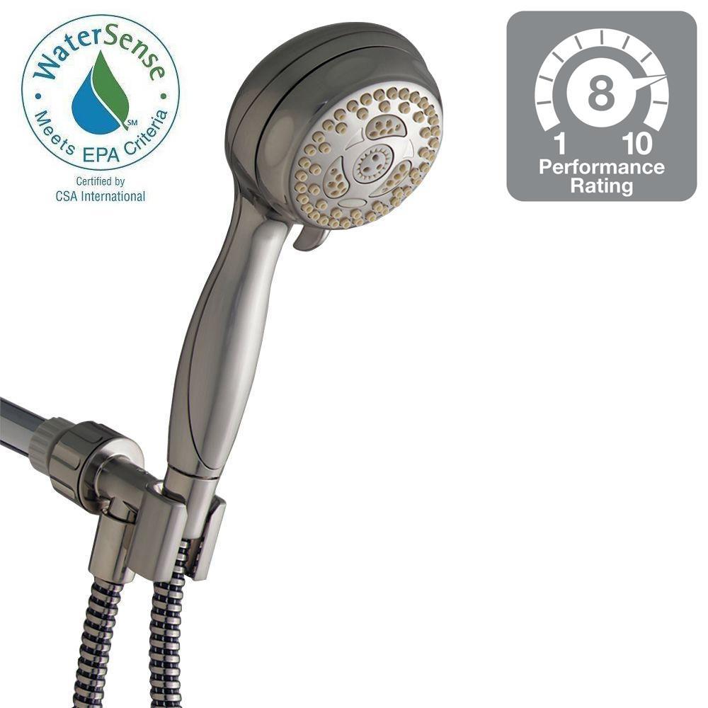 Awesome Waterpik Sacorro 6 Spray Handheld Showerhead In Brushed Nickel Great Ideas