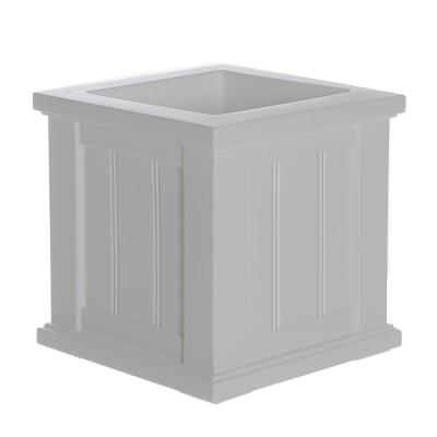 Self-Watering Cape Cod 14 in. Square White Plastic Planter