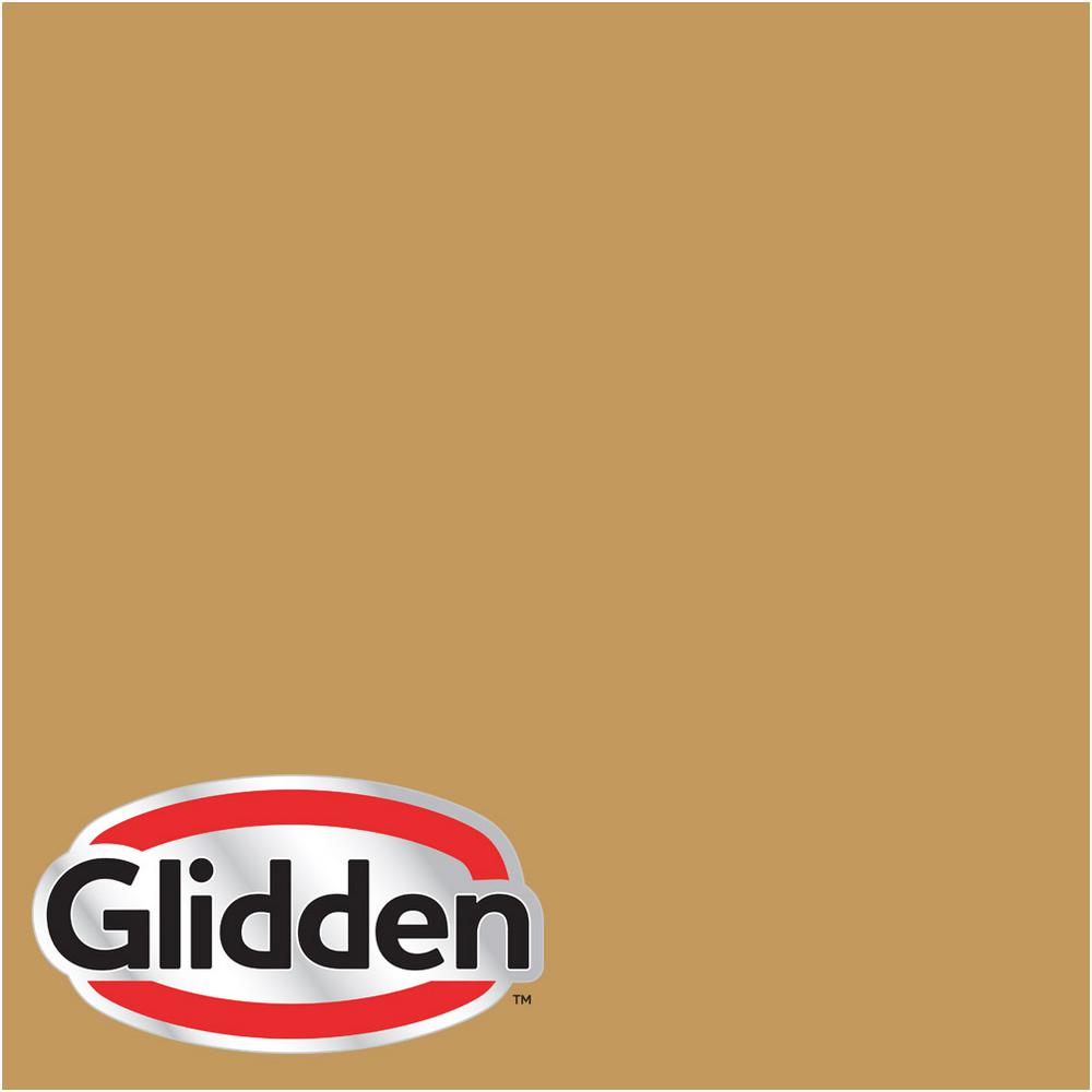 Glidden Premium 1 Gal Hdgy34 Monarch Gold Satin Interior Paint With Primer Hdgy34p 01san The Home Depot