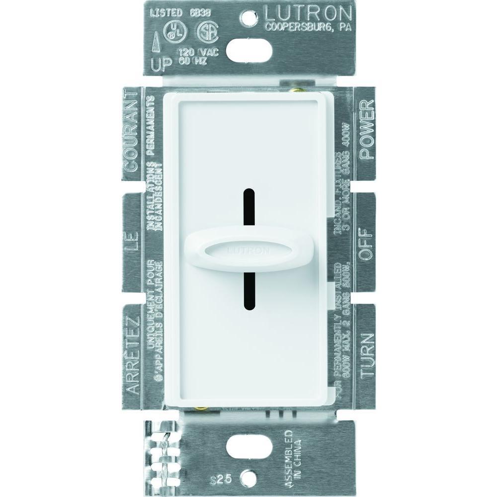 lutron skylark 1 5-amp single-pole 3 speed fan control - white