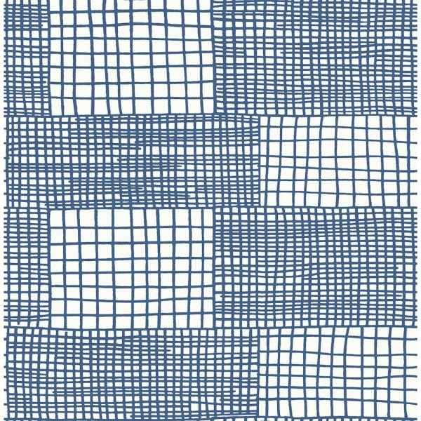 Maxwell Blue Geometric Blue Paper Strippable Roll (Covers 56.4 sq. ft.)