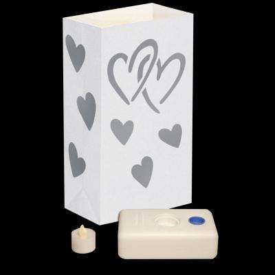 Hearts LED Luminaria Kit (Set of 12)