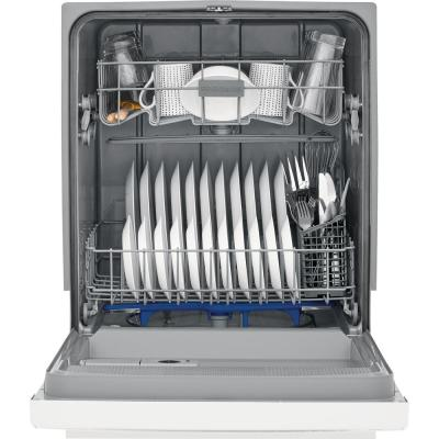 24 in. White Front Control Built-In Tall Tub Dishwasher, 55 dBA