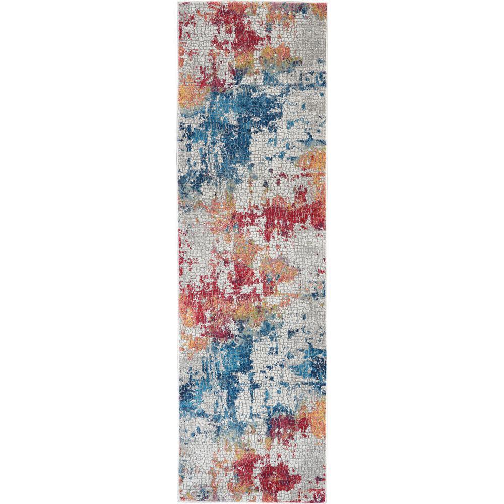 Global Vintage Multicolor 2 ft. x 6 ft. Textured Hallway Runner Rug