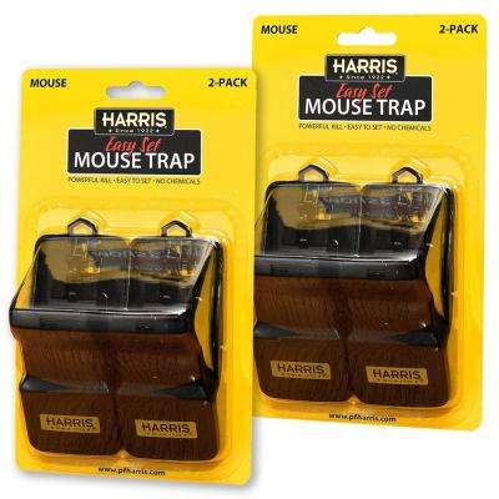 Harris Reusable Plastic Mouse Trap (4-Pack)