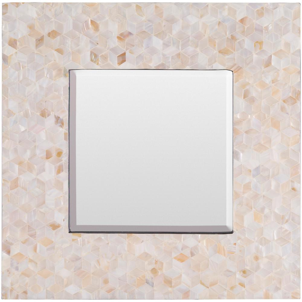 Ofelina 27.6 in. x 27.6 in. MDF Framed Mirror