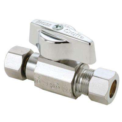 3/8 in. O.D. Female Compression Inlet x 3/8 in. O.D. Compression Outlet 1/4-Turn Straight Ball Valve