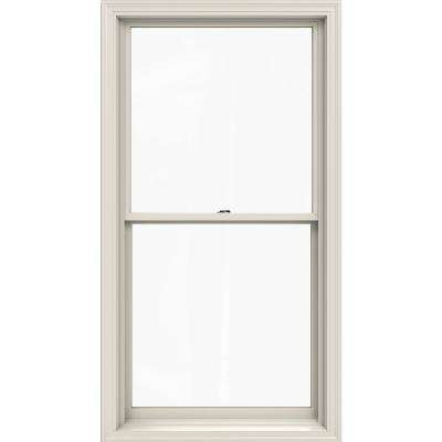 33.375 in. x 64.5 in. W-2500 Series Primed Wood Double Hung Window w/ Natural Interior and Low-E Glass