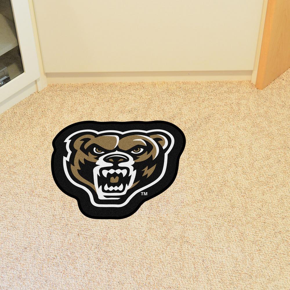 FANMATS NCAA Oakland University Golden Grizzlies Universitymascot Mat Team Color One Size