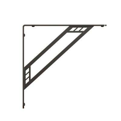Richland Steel 10 in. D x 1.00 W x 10.00 H Black 500lbs. Decorative Shelf Bracket