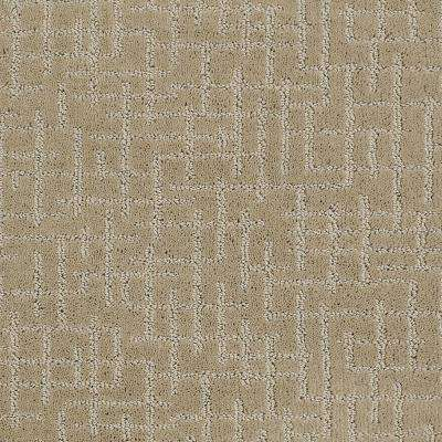 Carpet Sample - Latice - Color Woven Straw Pattern 8 in. x 8 in.