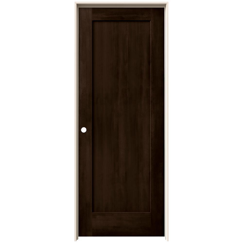 24 in. x 80 in. Madison Espresso Stain Right-Hand Molded Composite MDF Single Prehung Interior Door