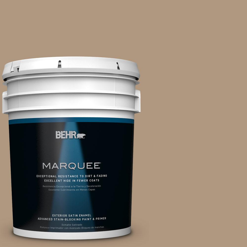 BEHR MARQUEE Home Decorators Collection 5-gal. #HDC-WR14-3 Roasted Hazelnut Satin Enamel Exterior Paint