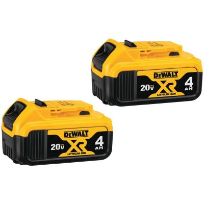 20-Volt MAX XR Premium Lithium-Ion 4.0Ah Battery Pack (2-Pack)