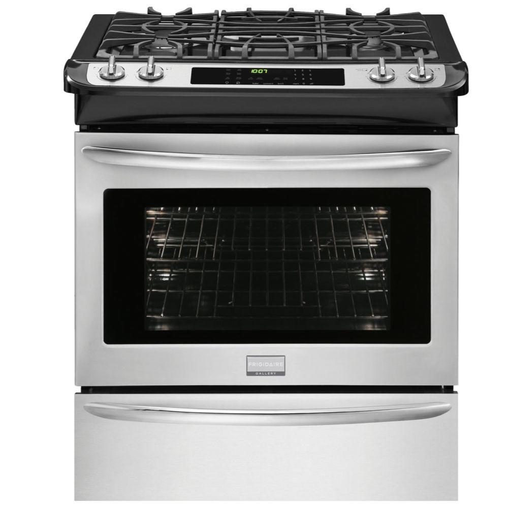 4.6 cu. ft. Slide-In Dual Fuel Range in Smudge-Proof Stainless Steel