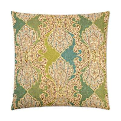 Derrington Capri Feather Down 24 in. x 24 in. Standard Decorative Throw Pillow