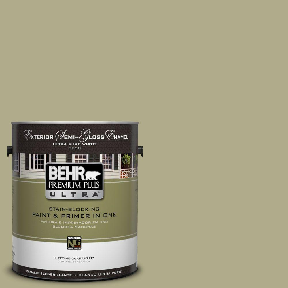 BEHR Premium Plus Ultra 1-Gal. #UL200-17 Sanctuary Semi-Gloss Enamel Exterior Paint