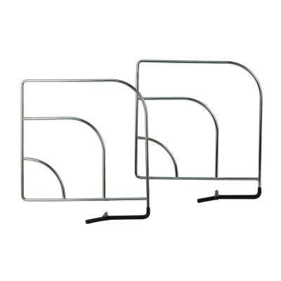 Small Over the Shelf Closet Organizer Shelving Dividers (4-Pack)