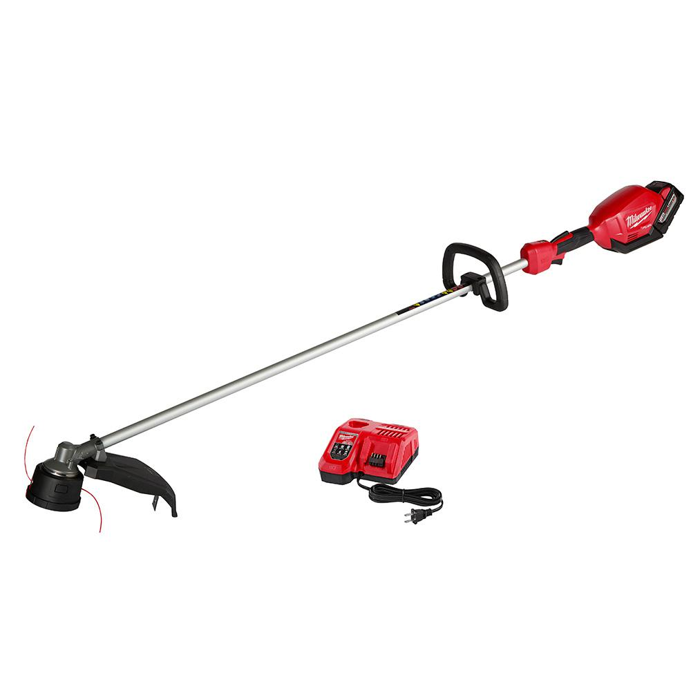 M18 FUEL 18-Volt Lithium-Ion Brushless Cordless String Trimmer Kit with 9.0Ah Battery and Rapid Charger