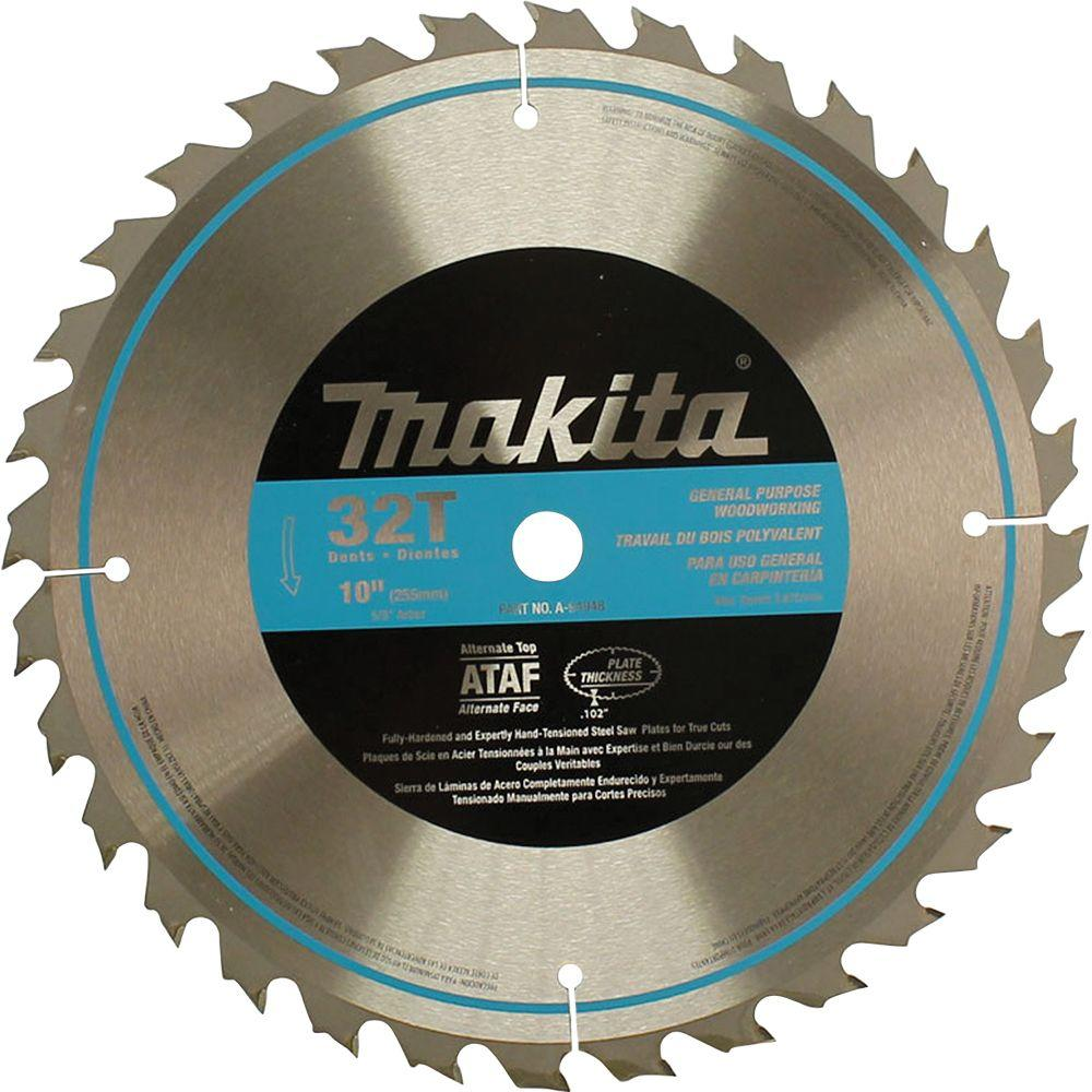 Makita 10 In 32 Teeth Carbide Tipped Table Saw Blade A