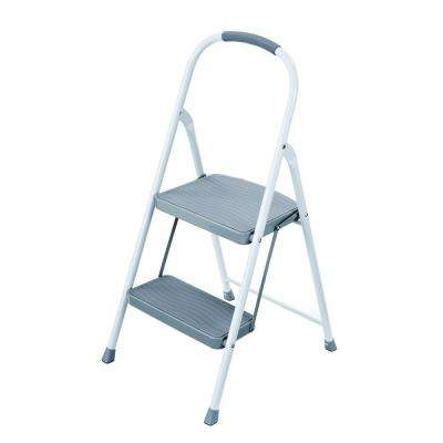 2-Step Steel Step Stool with 225 lb. Load Capacity Type II Duty Rating