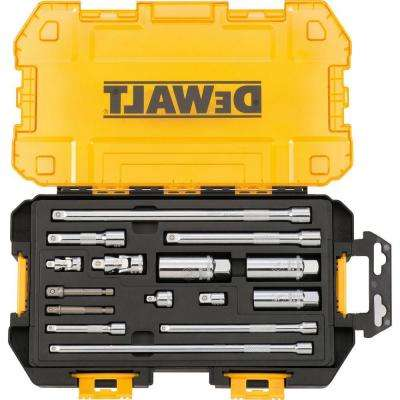 1/4 in. and 3/8 in. Drive Tool Accessory Set with Case (15-Piece)