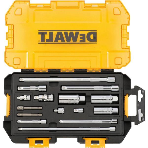 DEWALT 1/4 in. and 3/8 in. Drive Tool Accessory Set with Case (15-Piece)