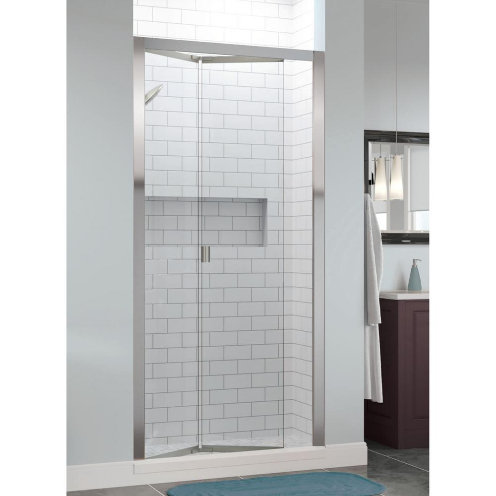 Basco Infinity 35 in. x 72 in. Semi Frameless Bi Fold Shower Door