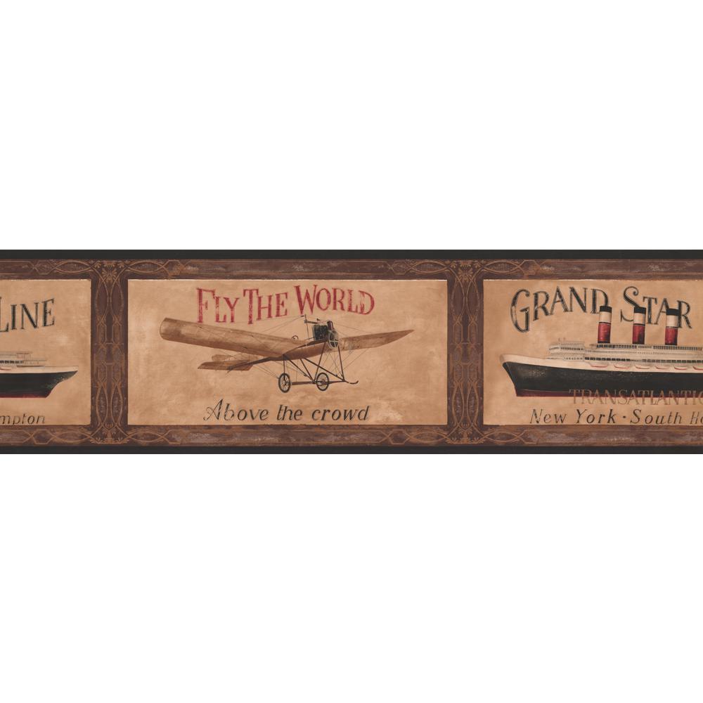 Retro Airplane Ship Travel Ads