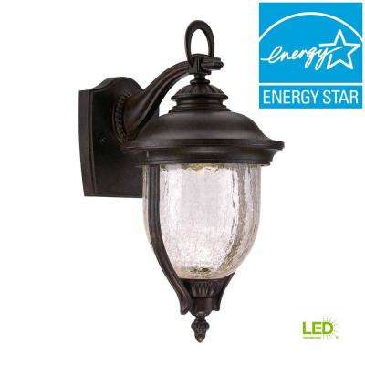 7 in. Mystic Bronze LED Outdoor Sconce