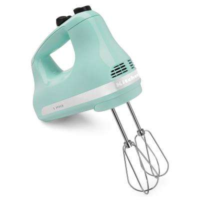 Ultra Power 5-Speed Ice Blue Hand Mixer with 2 Stainless Steel Beaters