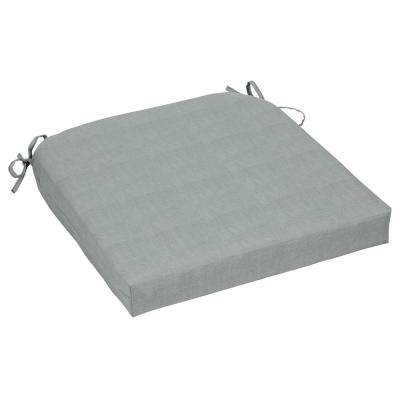 CushionGuard Pewter Contoured Outdoor Seat Cushion