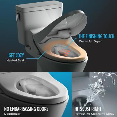 C200 WASHLET Electric Bidet Seat for Elongated Toilet in Cotton White