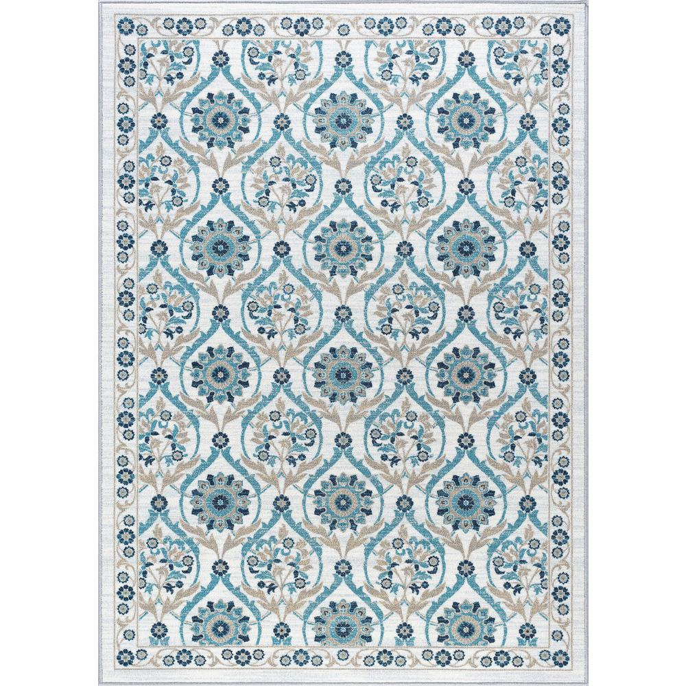 Tayse Rugs Majesty Cream 8 Ft X 10 Ft Transitional Area