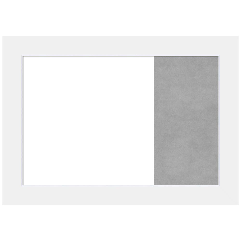 Amanti Art Corvino White Wood 31 88 In X 22 88 In Framed Magnetic Dry Erase Combo Memo Board Dsw4407604 The Home Depot