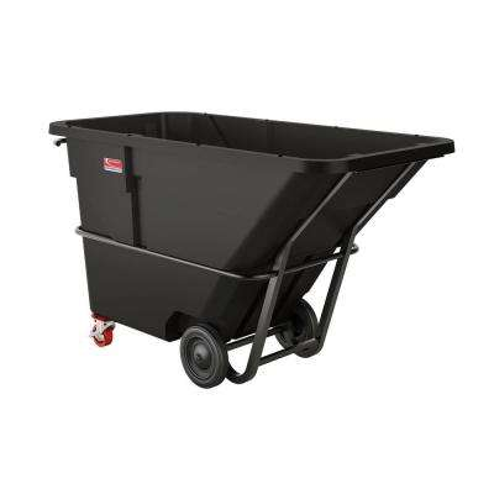 1300 lb. Capacity 1-1/2 Yard Standard Duty Forkliftable/Towable Tilt Truck