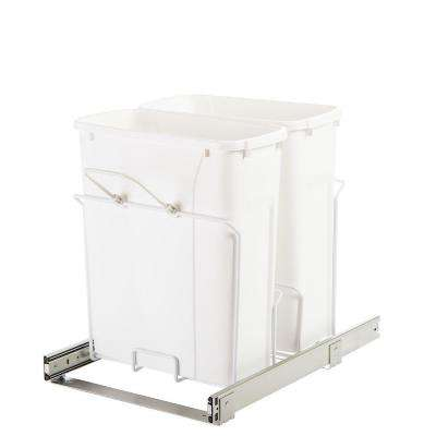 14.38 in. x 20.125 in. x 17.31 in. In Cabinet Pull-Out Bottom Mount Trash Can