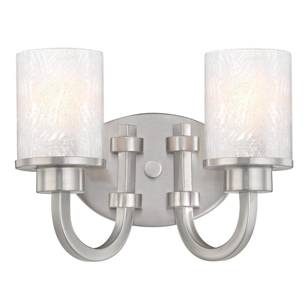 Ramsgate 2-Light Brushed Nickel Wall Mount Bath Light