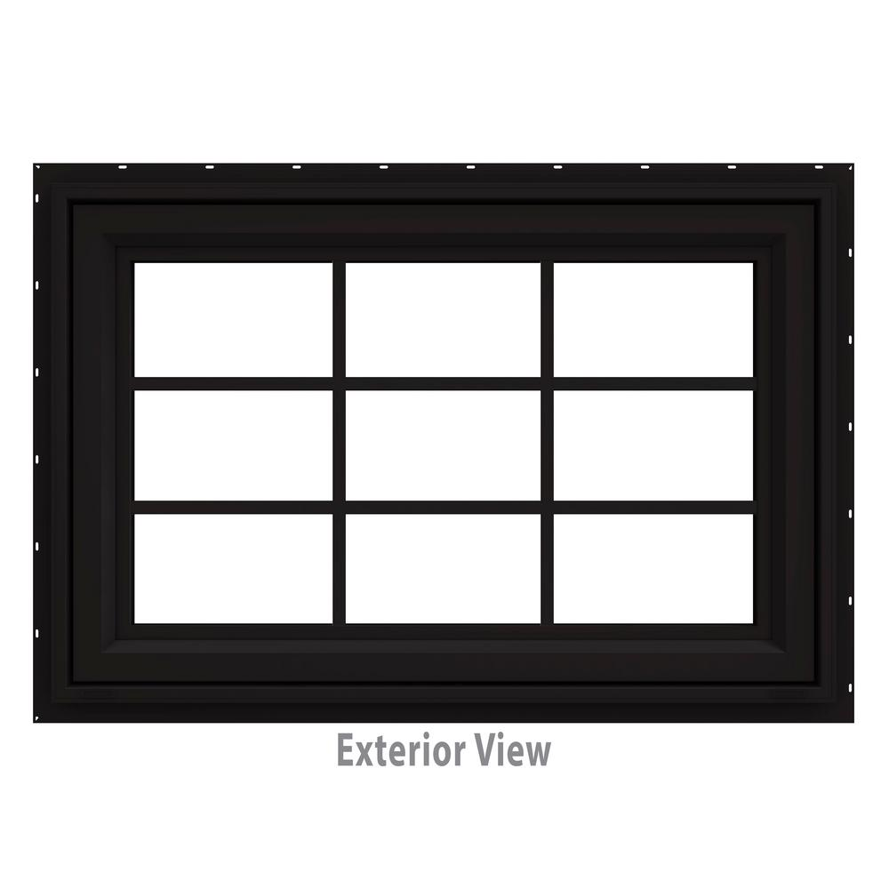 35.5 in. x 29.5 in. V-4500 Series Black Painted Vinyl Awning
